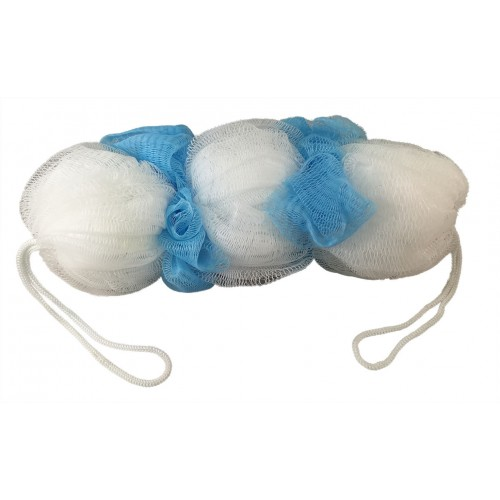 Vega Flower Back Bath Shower Sponge Brush Blue