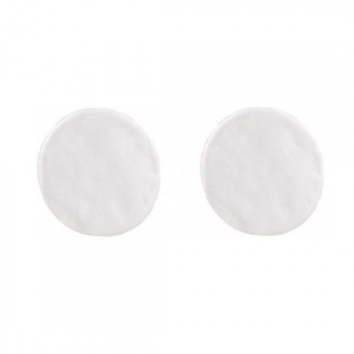 Modern Pale silver plain circle earrings