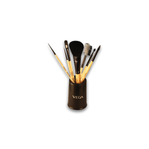 Vega Set of 7 Make-up Brushes with holder