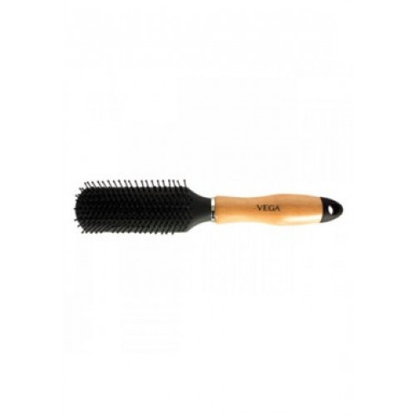 Vega Hairbrush Wooden Handle Nylon Bristles