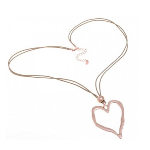 Heart Pendant Long Necklace