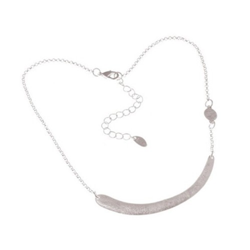 Silver Plated Alloy Horizontal Stick Little disk on side Chain Body Necklace