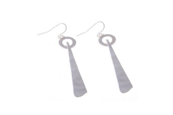 Silver Plated Long Drop Earrings