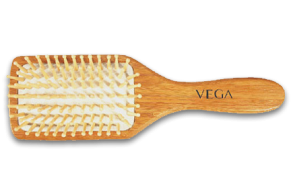 Vega Wooden Bristle Paddle premium Brush
