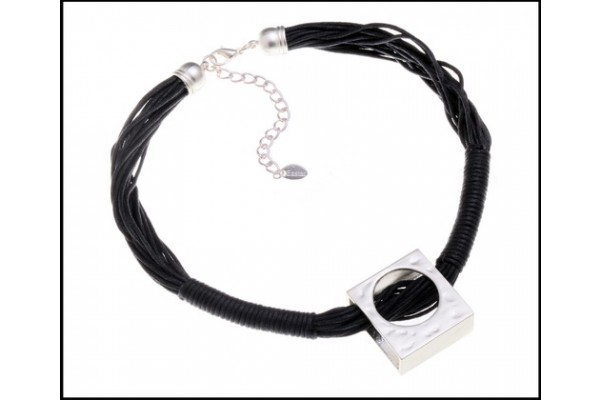 Funky Square Pendant Necklace