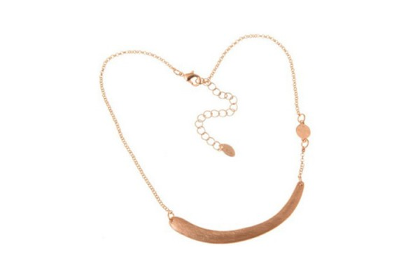 Rose Gold Plated Alloy Horizontal Stick Little disk on side Chain Body Necklace