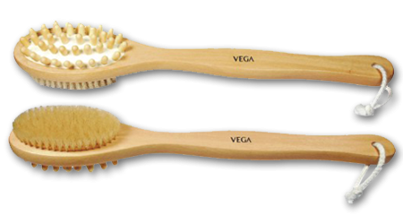 Vega Cellulite Bristle Bath Brush Long Handle