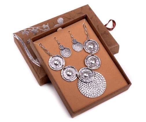 Boxed Alloy Necklace & Earring Set