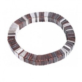 Snake elastic mixed gradient color fashion bracelet