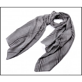 Multi-Lines Printed Lady Scarf Black & Grey