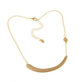 Gold Plated Alloy Horizontal Stick Little disk on side Chain Body Necklace