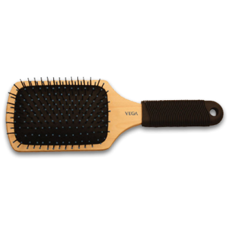 Vega Large Wooden Paddle Cushion Hair Brush