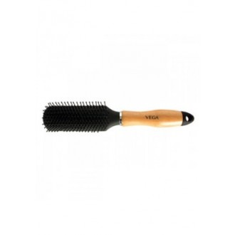 Vega Hairbrush Wooden Handle Nylon Bristles