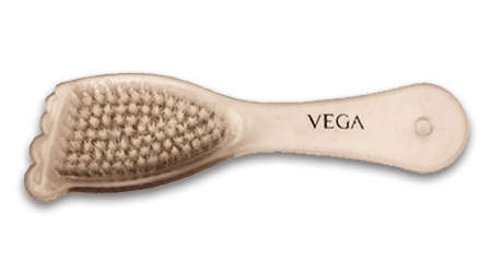 Vega Foot Care Scrubber 2 in 1 Pumice Stone and Brush
