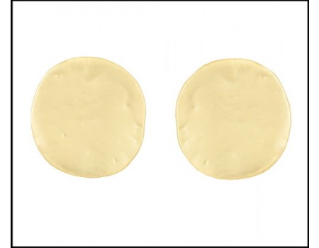 Modern Pale gold plain circle earrings